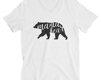 Mama Bear V-Neck Short Sleeve T-Shirt
