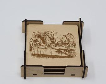 Coasters-Alice in Wonderland Artwork Lewis Carroll Original