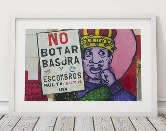 Graffiti Art, Urban Landscape Photography, South American Street Art, Chile, Street Art, Contemporary Wall Art, Urban Art, Fine Art Print