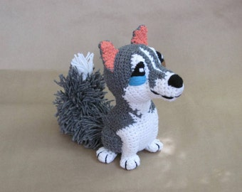 Crocheted Husky PDF Pattern - Digital Download - ENGLISH ONLY