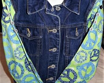 Refurbished Denim Girl's Jacket, Size-10/12