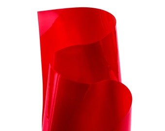 Red transparent vinyl / PVC material