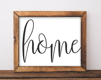 Printable Wall Art, Home printable art, Home art, Home decor, gallery wall, home poster, apartment decor, digital download home sweet home