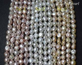 Natural Keshi pearl Freshwater pearl Large hole pearl wholesale pearl Loose pearls Necklace pearl 8-9mm Purple, white Full Strand PL4340
