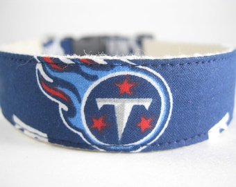 Tennessee Titans hemp dog collar or leash