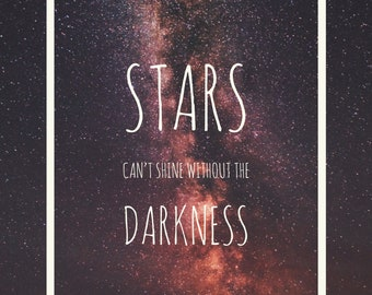 Stars can't shine without the darkness - greeting card