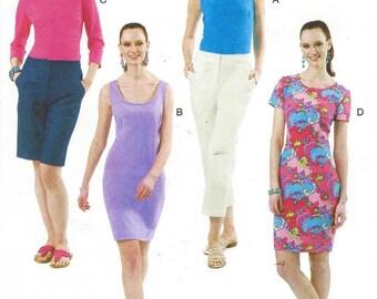 Palmer Pletsch Shift Dress Womens Summer Tops and Dresses McCalls Sewing Pattern M6355 Size 16 18 20 22 Bust 38 40 42 44 UnCut