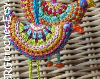 Crochet pattern BIRD of PARADISE by ATERGcrochet
