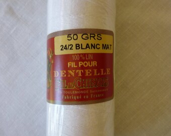 For 24/2 white lace linen thread