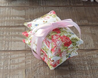 Old Fashioned Roses Sachets Set of 3, Organic Lavender, Lavender Pillows, Natural Aroma Therapy