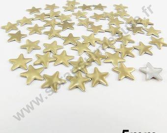 Fusible Star - Gold matte - 8 mm - x 75pcs