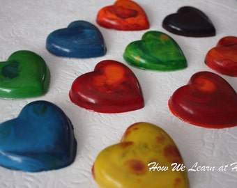 Valentines Day Party Favors Heart Crayons