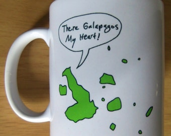 You're Ecuadorable! and There Galapagos My Heart! Combination Mug