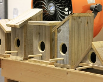 Mix and match Rustic birdhouses, made from reclaimed wood, handmade, discounted price for bundle, 6 to pick from
