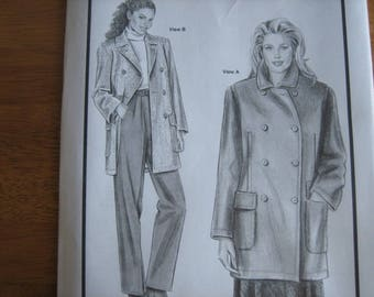 Stretch & Sew Pattern 1052 ANN PERSON Classic Peacoat       1998       Uncut