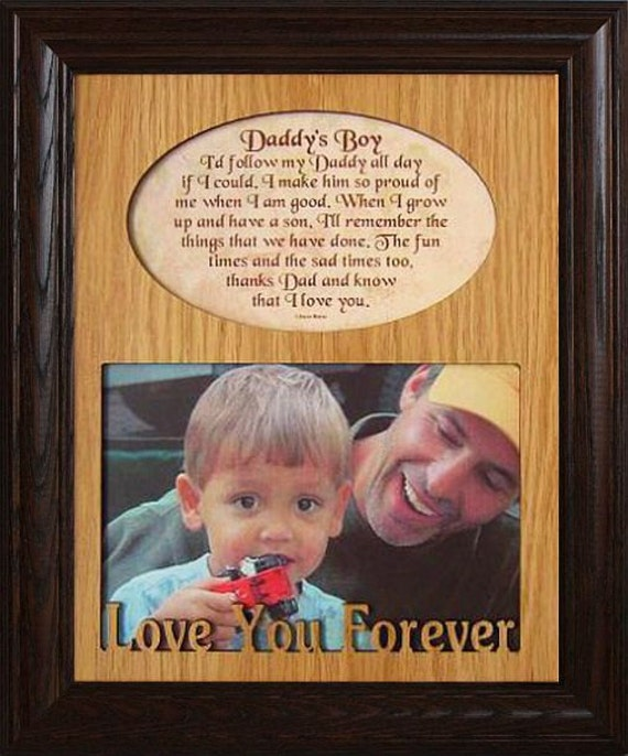 8x10 DADDY\'S GIRL/BOY Laser & Poetry Picture Frame Daddy