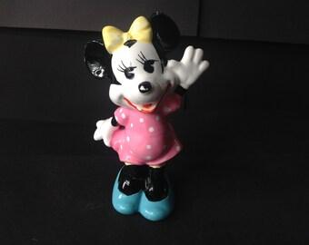Vintage Walt Disney Minnie Mouse Ceramic Figurine Japan