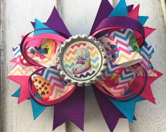 Shopkins Stacked Bottlecap Boutique Hairbow Barrette