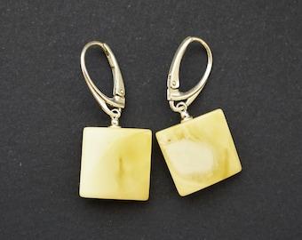 Natural Baltic Amber Earrings 5g