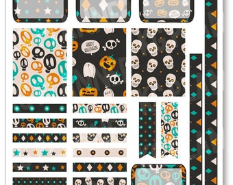 Muerte Decorating Kit / Weekly Spread Planner Stickers for Erin Condren Planner, Filofax, Plum Paper