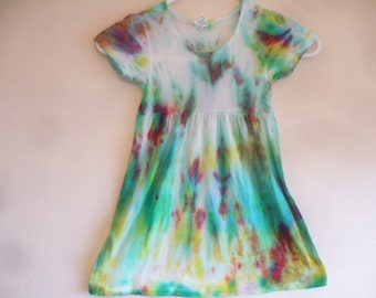 Tie Dye Girls 100% Cotton Dress, Size 4T, Hippie Clothes for Girls, Tie Dye Dresses, Toddler Dresses, Hippie, BoHo Clothing for Girls,