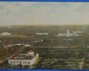 Looking East from Top Of Washington Monument DC Antique Postcard