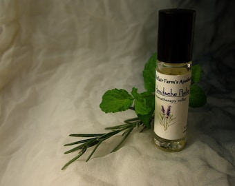 Headache Relief Roller, aromatherapy essential oil blend to soothe away headaches and migraines, Feat. lavender, spearmint, and more