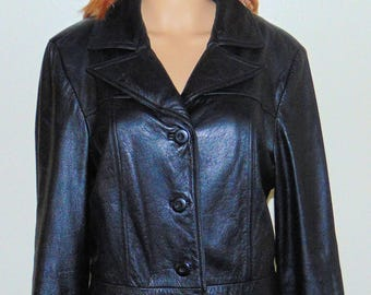 Wilsons Maxima Vintage Black Leather Jacket Size L