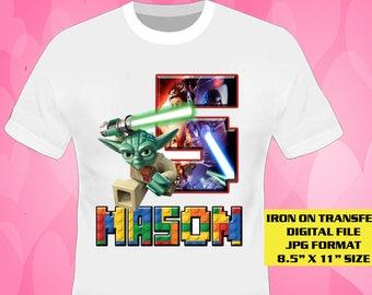Lego Star Wars Iron On Transfer , Lego Star Wars , Boy Birthday Shirt Designs , Printable , Personalize DIY Transfers , Digital Files