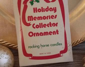 Vintage Christmas Rocking Horse Candle Holders