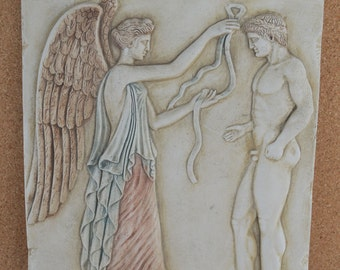 Nike Victory crowning athlet artifact sculpture relief