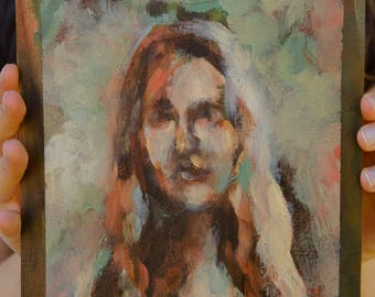 Self Portrait in Reflecting Pond - Original Painting