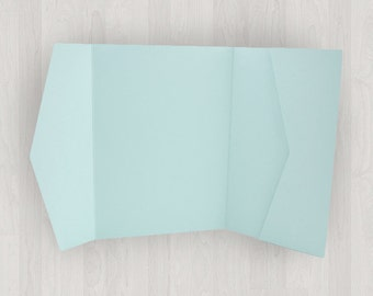 10 Horizontal Pocket Enclosures - Light Blue - DIY Invitations - Invitation Enclosures for Weddings and Other Events
