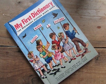 My First Dictionary The Beginner's Picture Word Book 1976