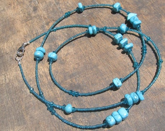 AZZURRA custom made waist beads, glass beads, crystals, turquoise stones, read item details and leave size