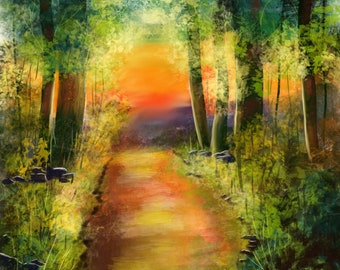 Charms Of Sunset In The Forest