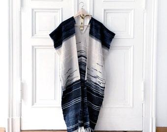 Kimono jacket, Blanket poncho, Kimono cape, Handwoven poncho, Oversized wall art, Woven wallhanging, Ethical fashion, Boho style jacket