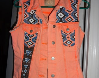 Hand Painted Navajo Vest, Women's Small