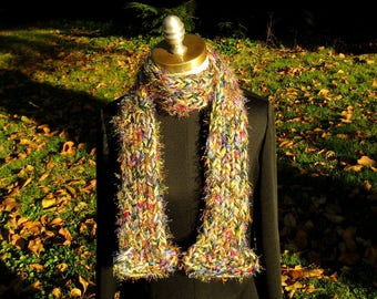 Colorful Cushy Reversible Scarf