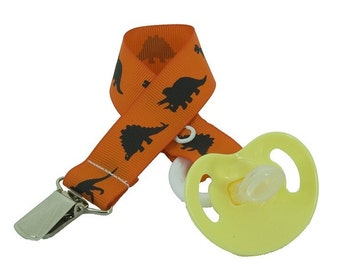 Dinosaur - Baby Pacifier Clip