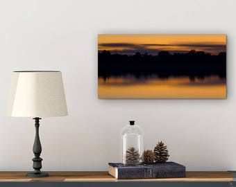 Michigan Wall Art - Canvas Wall Art Nature - Sunset Photography Canvas - Michigan Art - Sunset Pictures on Canvas - Michigan Canvas