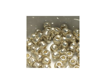 6/0 Silver Seed Beads 5 gm