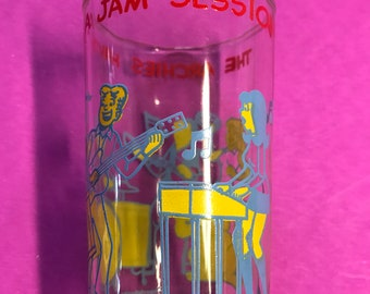 1971 Archie Comics The Archies Having a Jam Session Welch's  Jelly Jar Glass Free Shipping