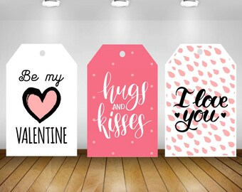 Valentine's Day Tag, Hearts Valentine's Tag, Party Favor Tags