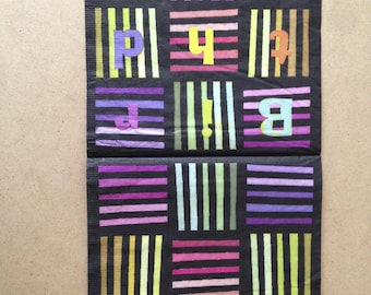 """Home Deco """"Stripes and letters"""" theme paper towel"""