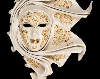 Venetian Mask | White Ignis