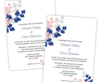 "Wedding Invitation - ""Madison"" - Instant Download - DIY Printable Template - Microsoft Word Format - Editable Invitation"