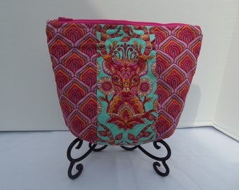 Tula Pink Deer Me Quilted Zipper Pouch