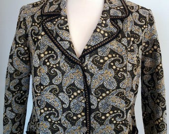 Vintage 70's Brown and Gold Button Down Jacket