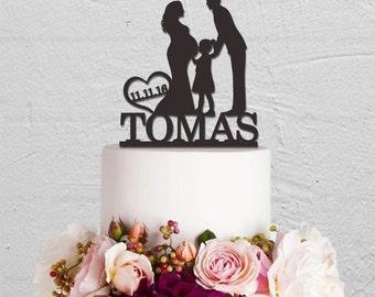 Wedding Cake Topper,Family Cake Topper,Pregnant Cake Topper,Custom Cake Topper,Bride And Groom Cake Topper,Mr And Mrs Cake Topper